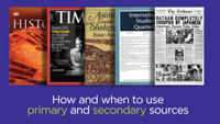Click here to view the video titled Primary & Secondary Sources